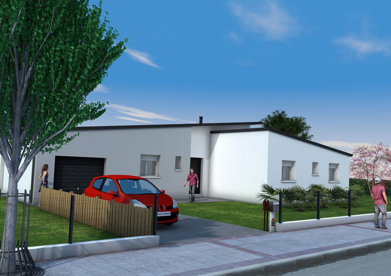 maison contemporaine maine loire